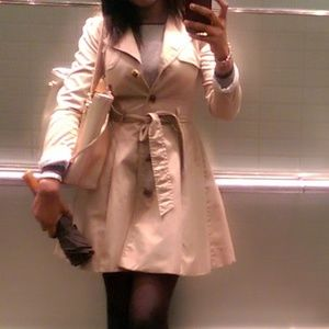 H&M Tan a-line Trench Coat